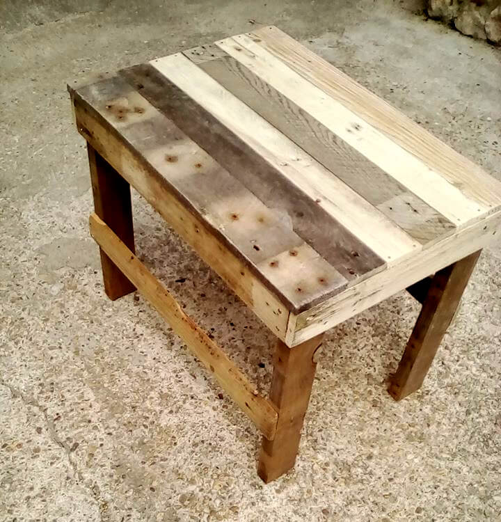pallet end table 99 pallets. Black Bedroom Furniture Sets. Home Design Ideas