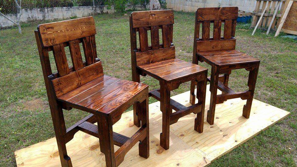 diy pallet kitchen counter chairs