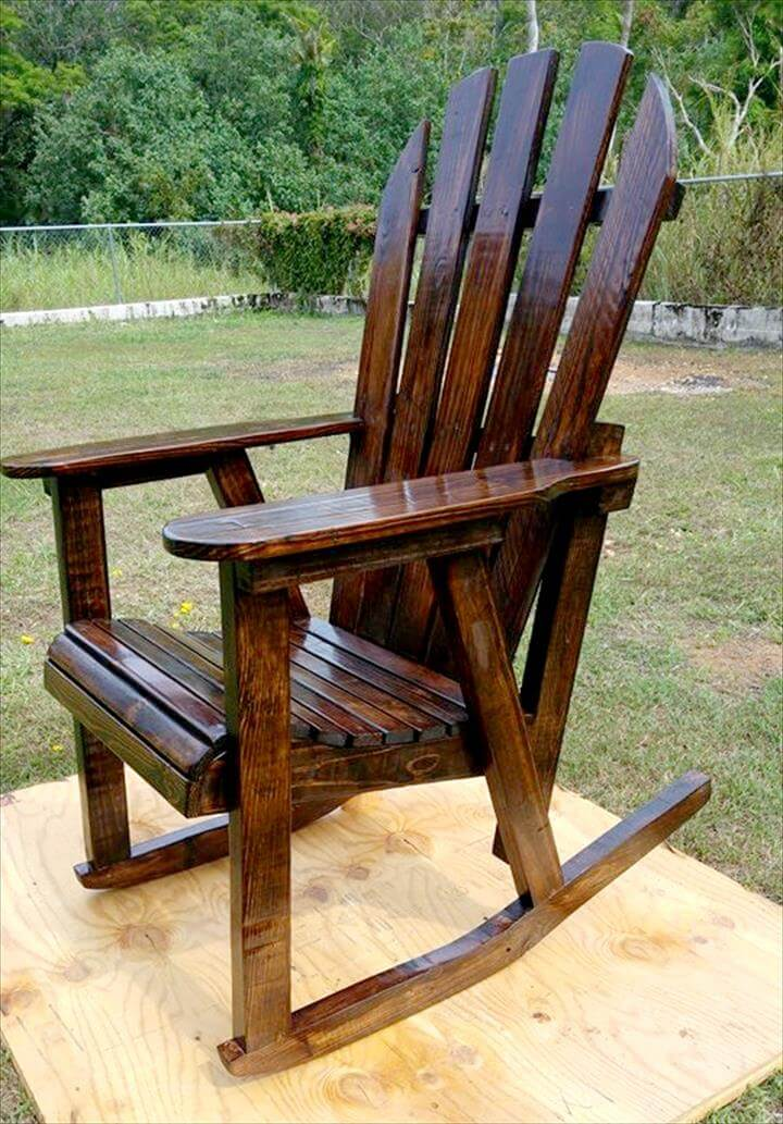 Pallet Rocking Chair 99 Pallets