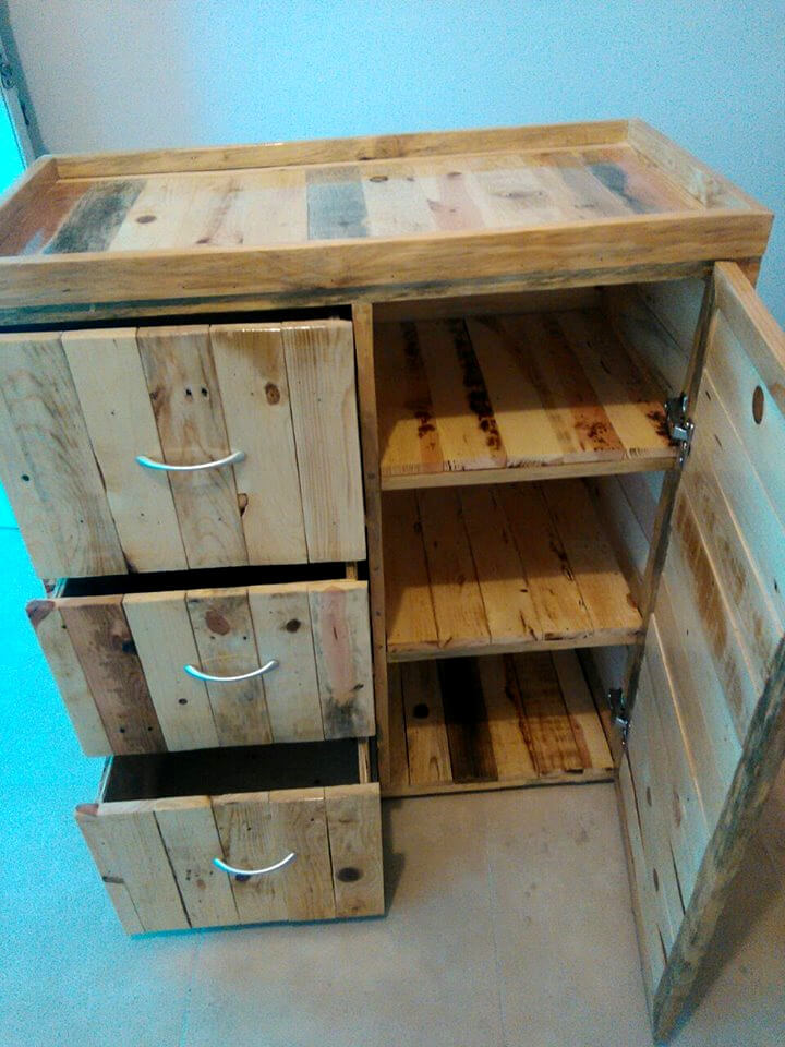 Wooden Pallet Chest Of Drawers 99 Pallets