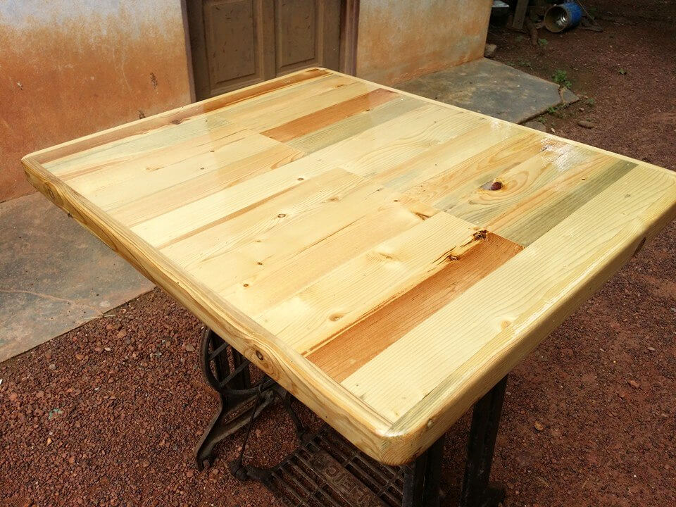 wooden sewing machine tables