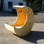 Moon Shaped Pallet Baby Cradle