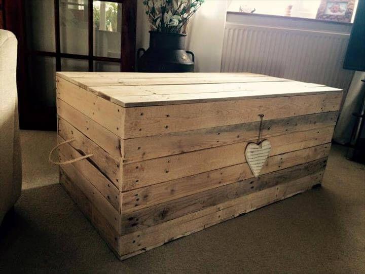 custom wooden pallet storage box