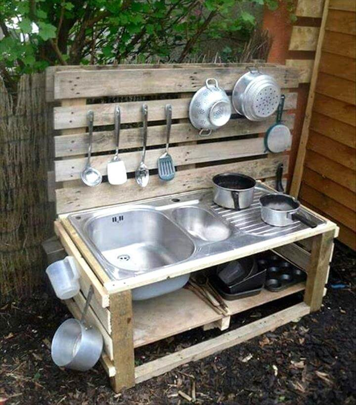 Kitchen Set Pallet: 10 Pallet Ideas For Kids To Tryout This Year