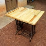 Pallet and Old Sewing Machine Base Table