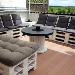 Pallets and Spool Terrace Furniture Set