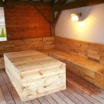 Pallet Deck Furniture Under Gazebo
