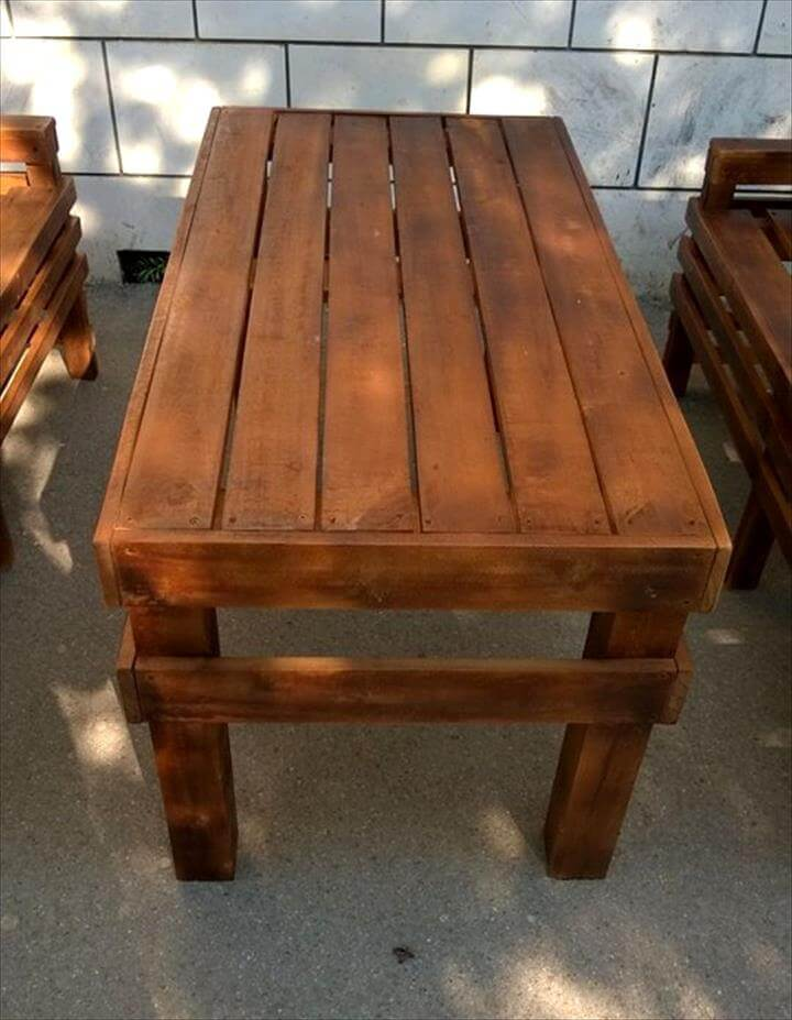 central wooden pallet coffee table
