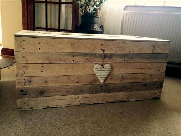 robust pallet storage box or chest