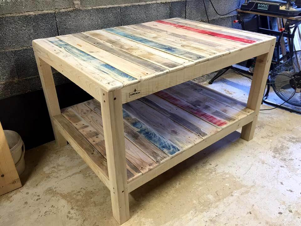 Big size pallet coffee table 99 pallets for Table palette