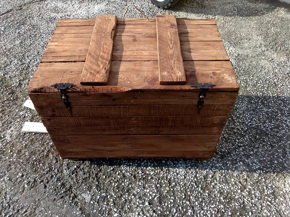 No-Cost Wooden Pallet Chest