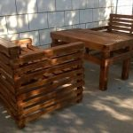 Wooden Pallet Patio or Garden Furniture Set
