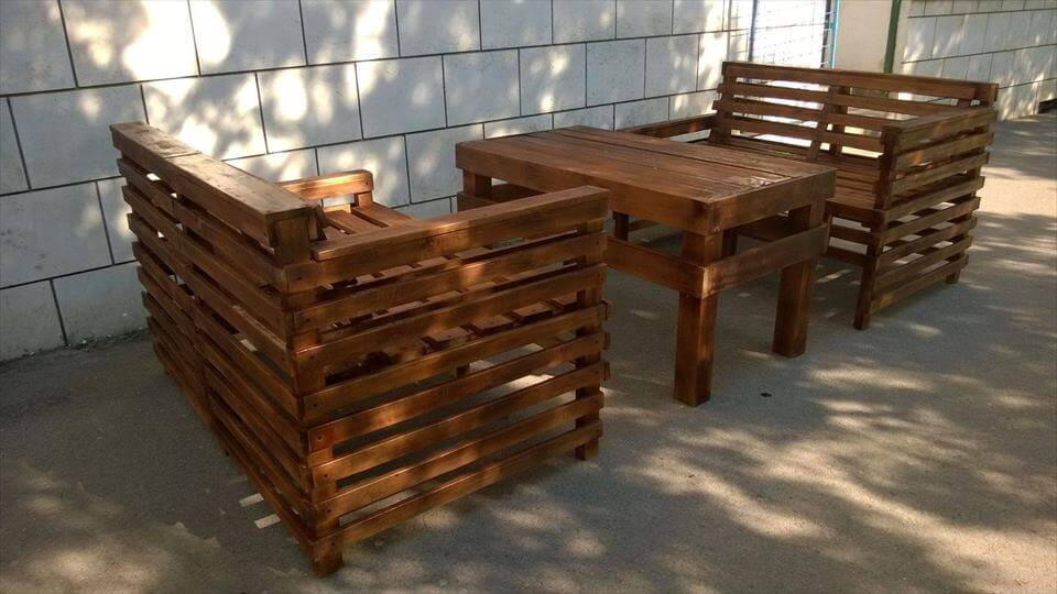 no-cost robust pallet patio sitting set