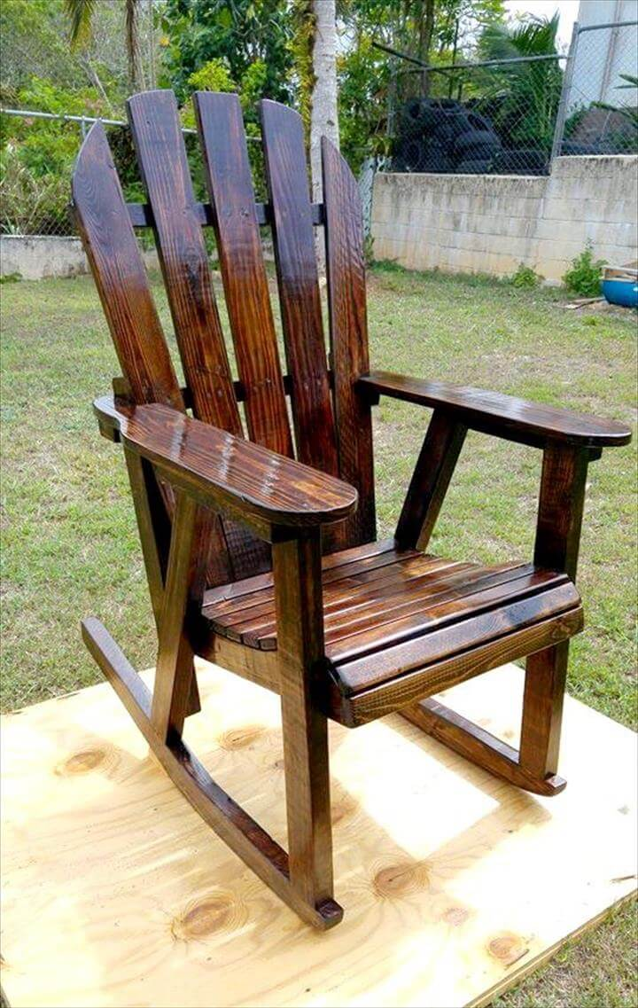Pallet rocking chair 99 pallets - Rocking chair but ...