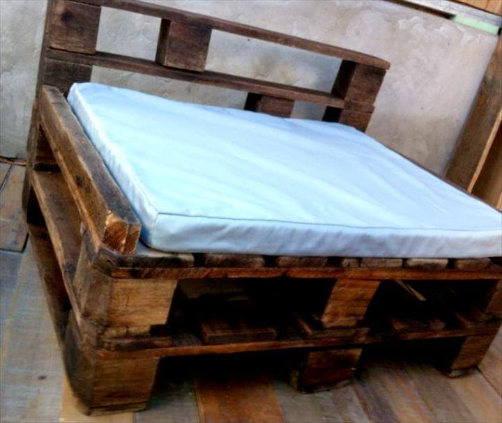 Rustic pallet made chair
