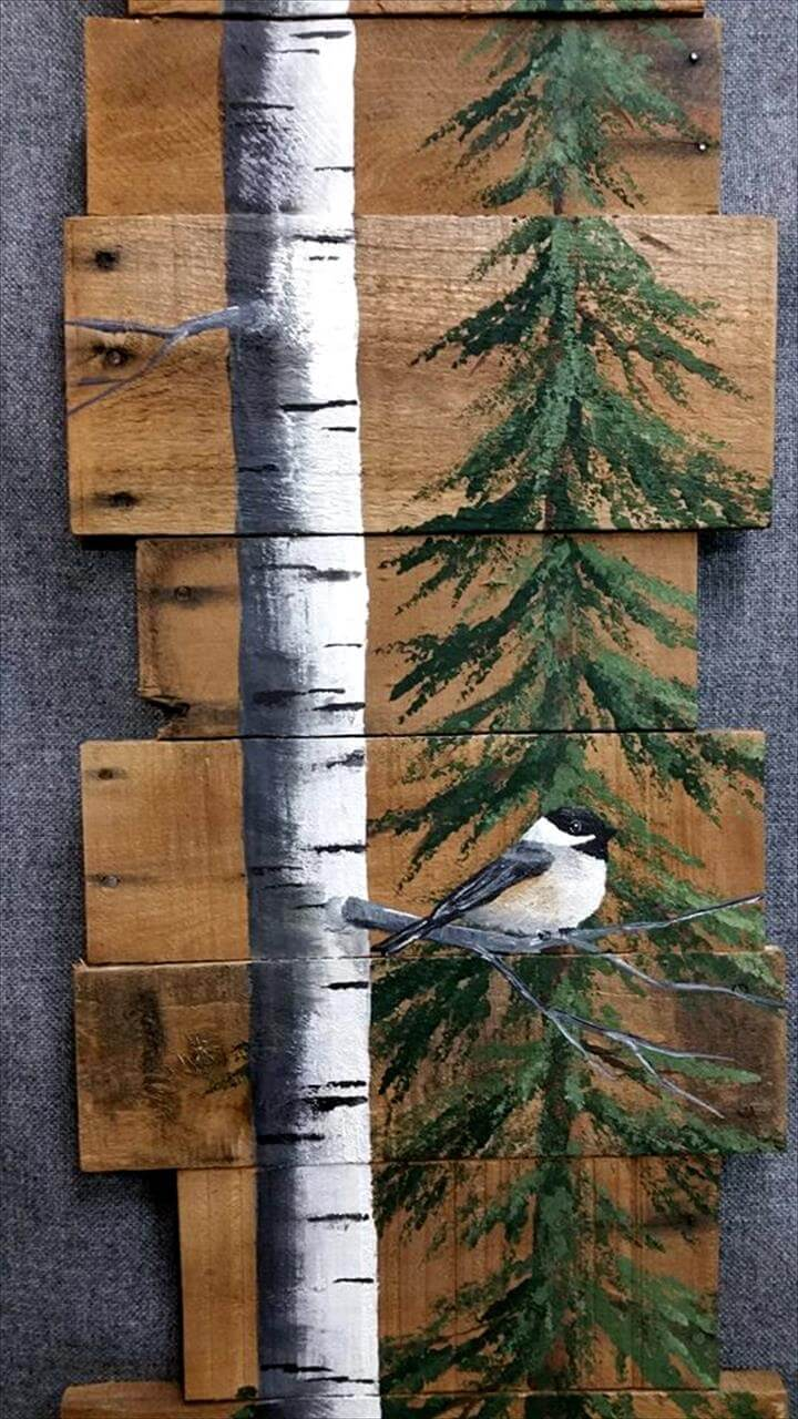 Pallet Tree Bird Wall Art 99 Pallets