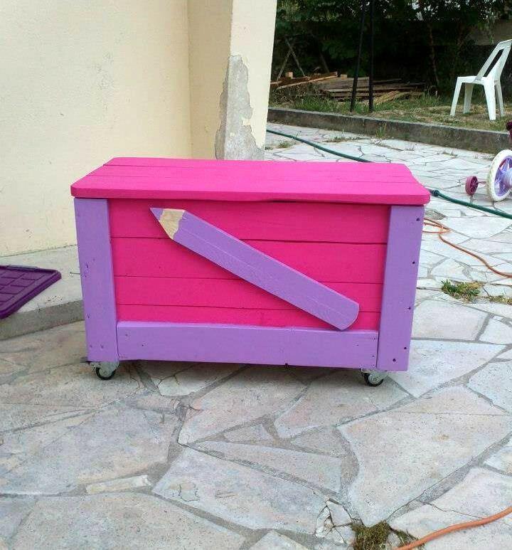 diy pallet kids stationery chest