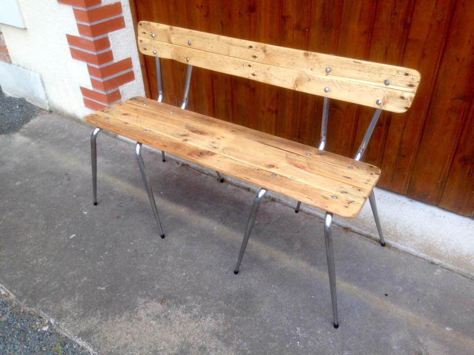 Old Chairs Turn Into Pallets Bench on Old Car Parts Furniture