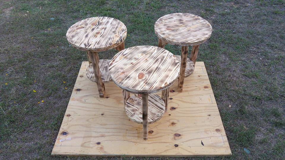 rustic-scorched-pallet-round-top-end-tables-or-side-tables