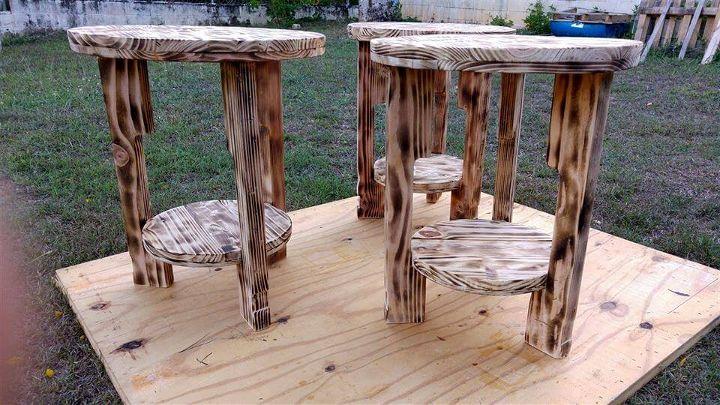 diy wooden pallet antique round tables