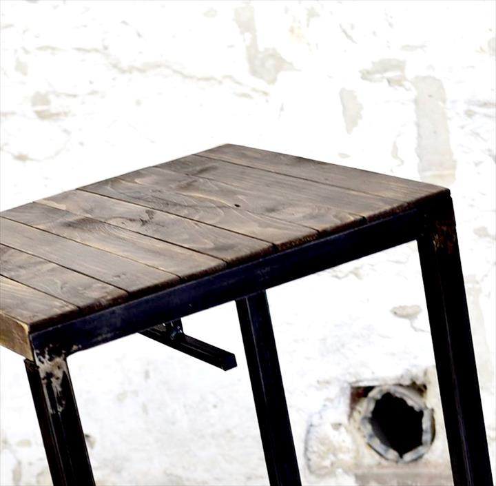 Wood Pallet bar Table with Stools : upcycled pallet stool from www.99pallets.com size 720 x 705 jpeg 46kB