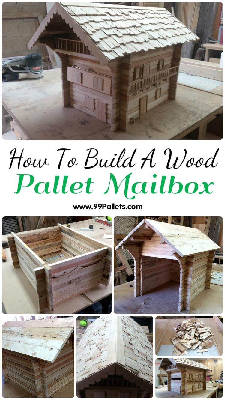 Diy pallet sofa with table 99 pallets - Pallet Mailbox