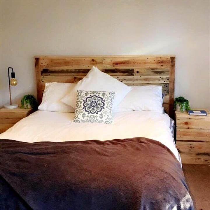 Rustic pallet made bed