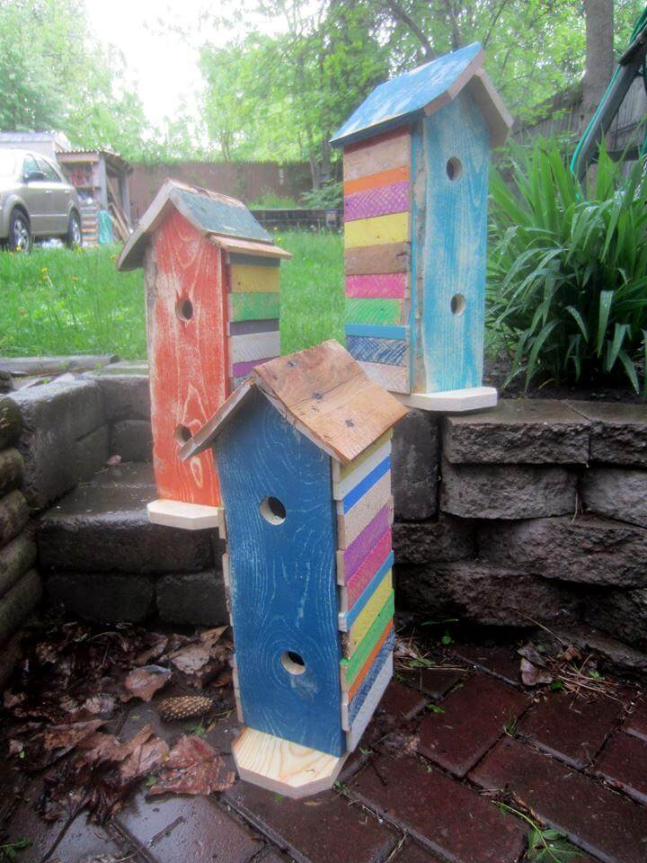 diy pallet bird houses