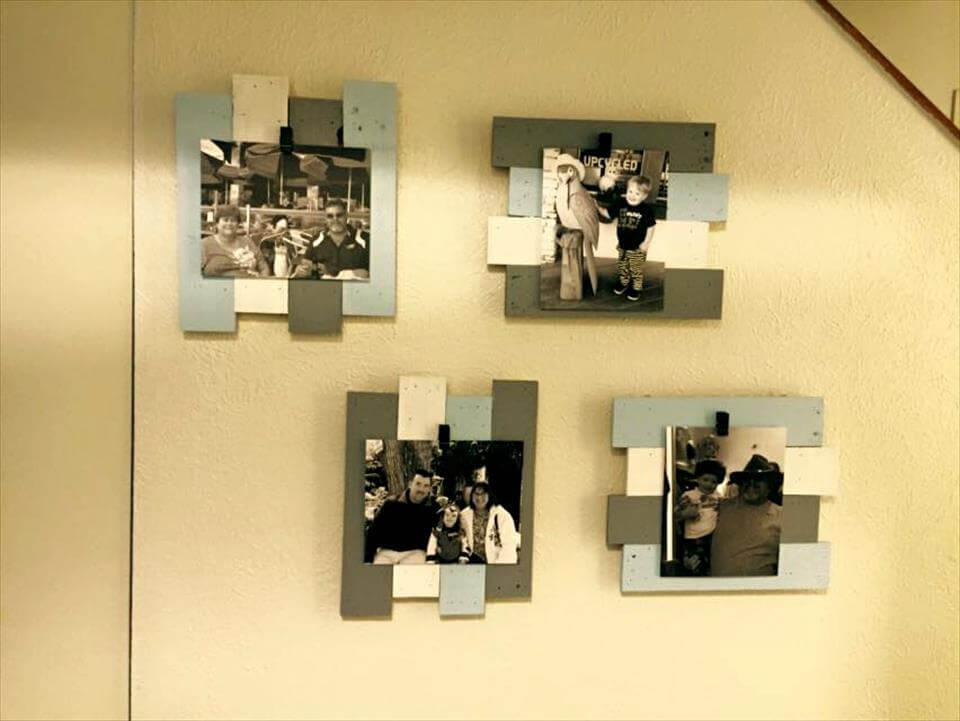 painted pallet picture frames