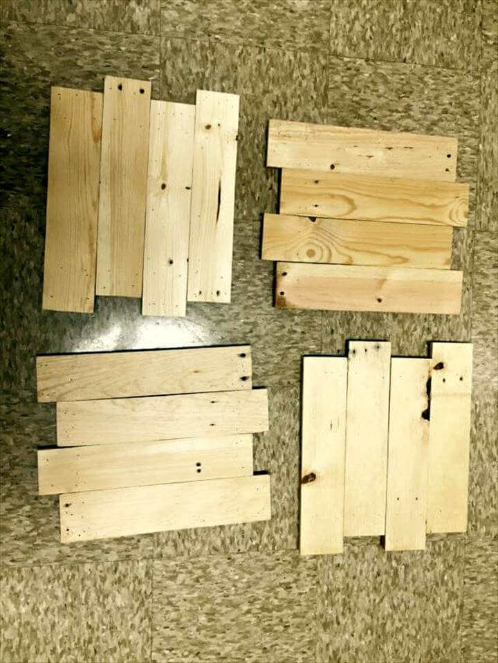 rustic wooden pallet picture frames