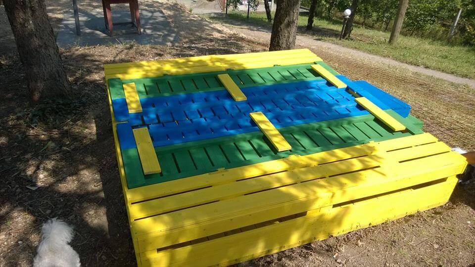 Sandbox out of Pallets