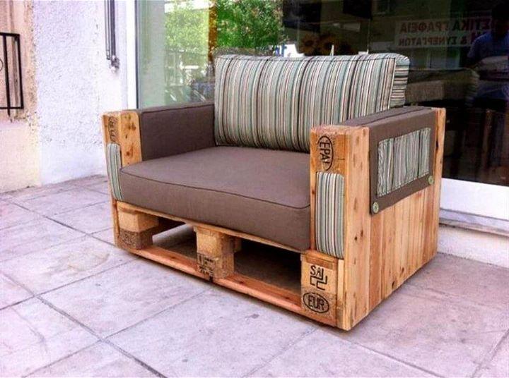 wooden pallet arm chair