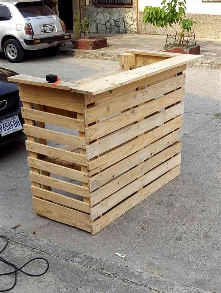 Handmade pallet bar stand