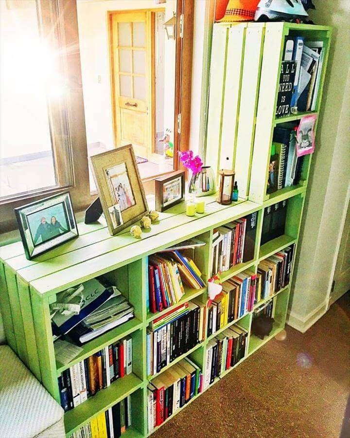 Xl size pallet bookshelf unit