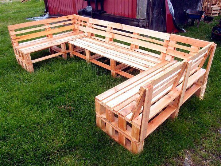 xL size pallet sofa for garden