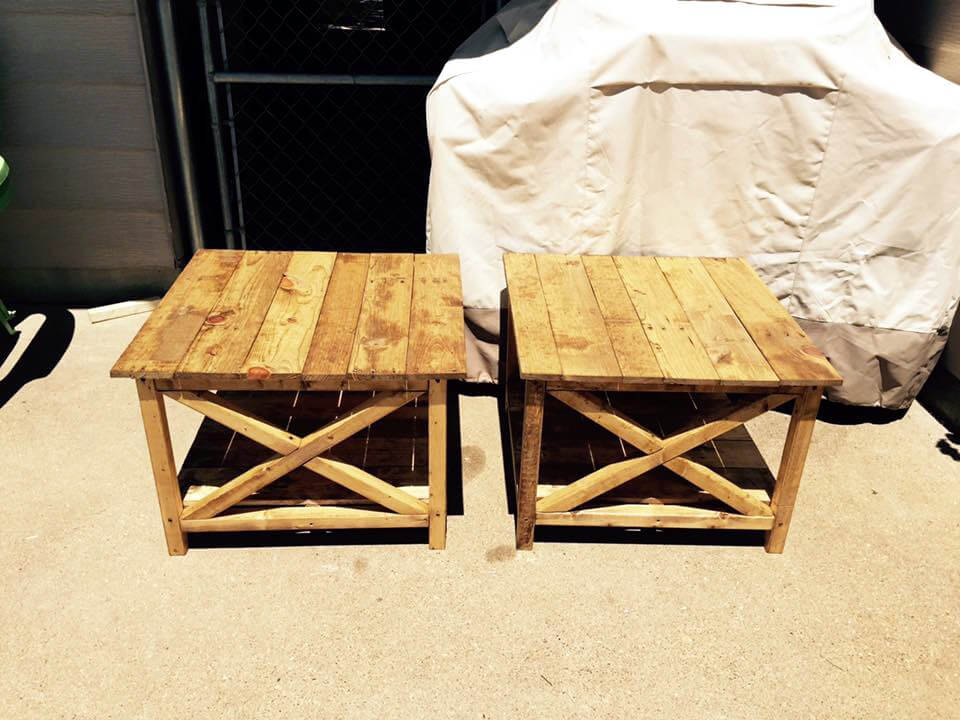 wooden pallet mini tables