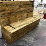 Pallet Bench with Storage in Seat
