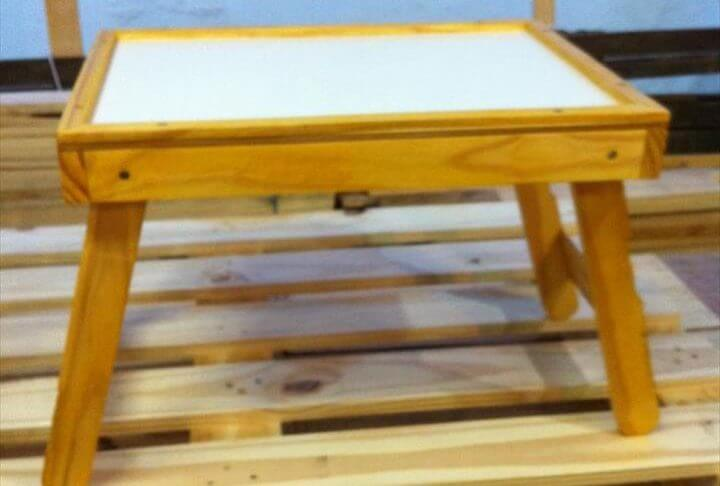 handcrafted wooden pallet pet feeding tray or bed
