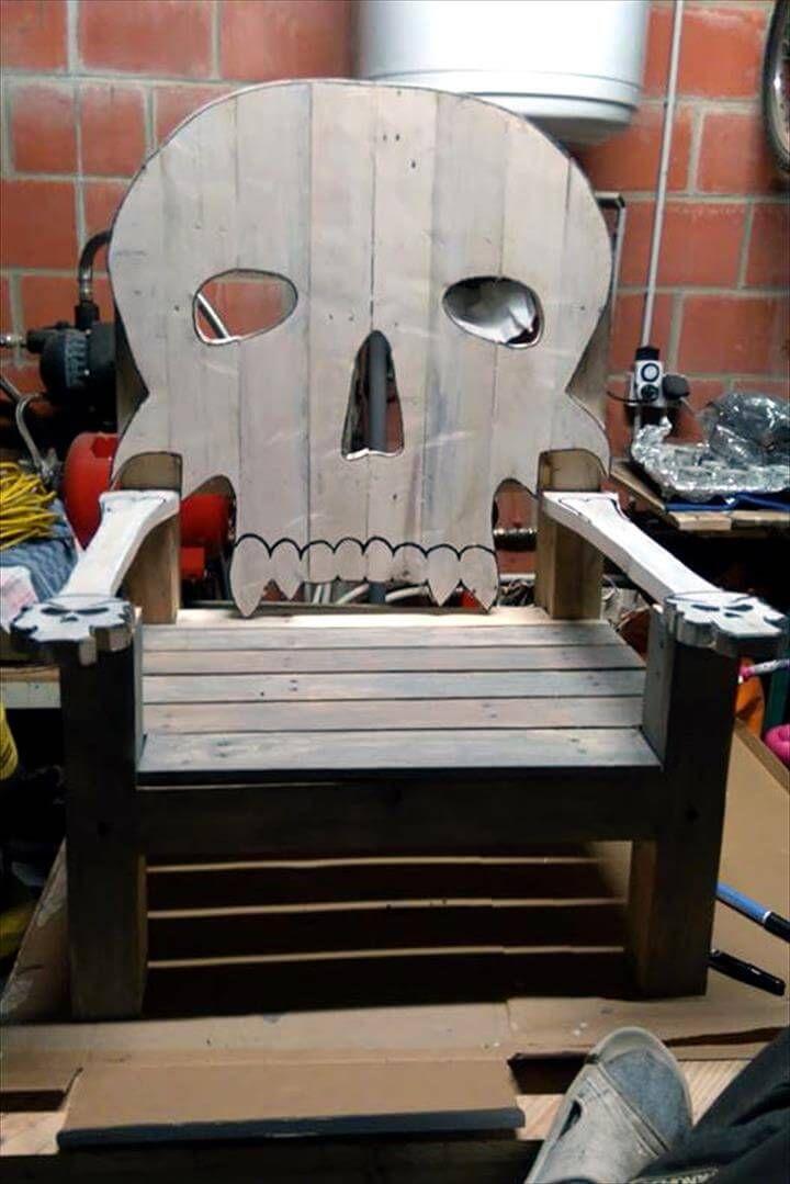 Wooden pallet skeleton chair