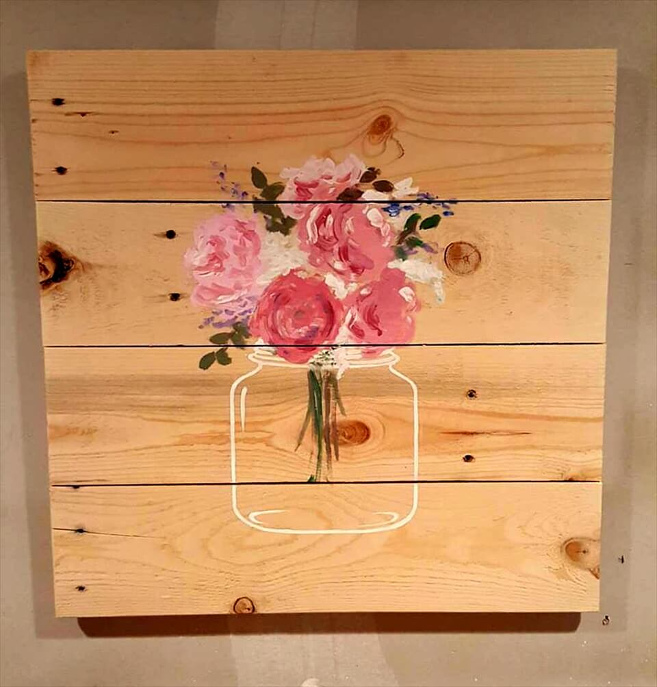 diy pallet wall art piece