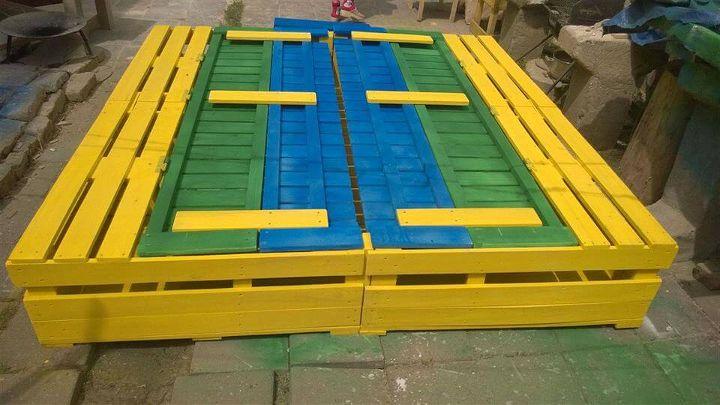 extra large pallet sandbox