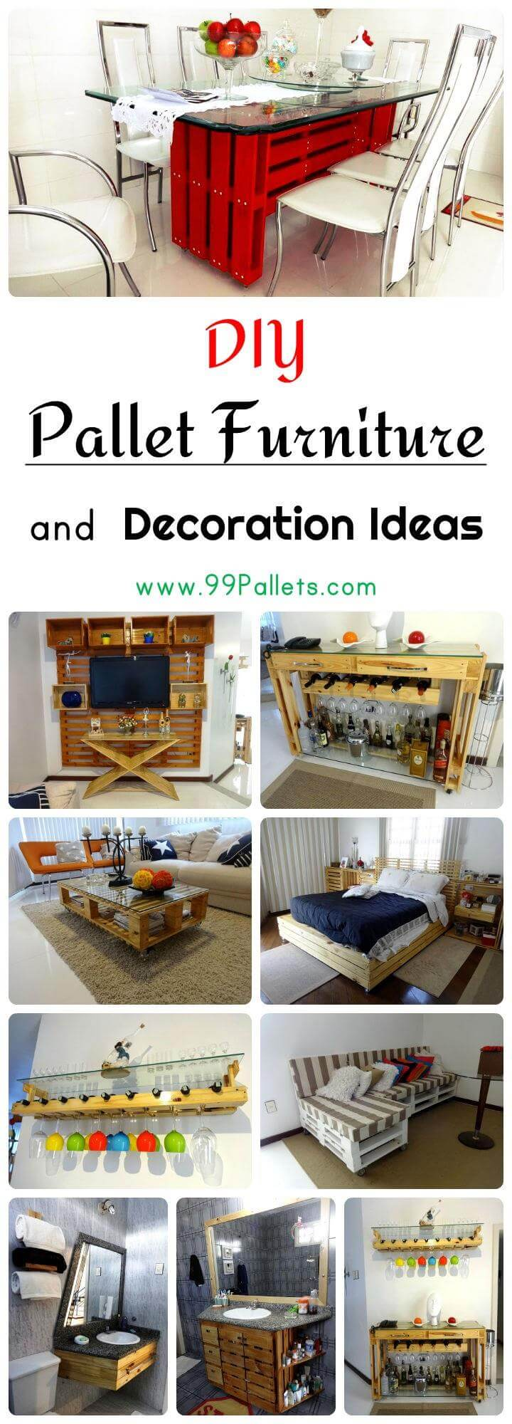 DIY Pallet Furniture and Decoration Ideas