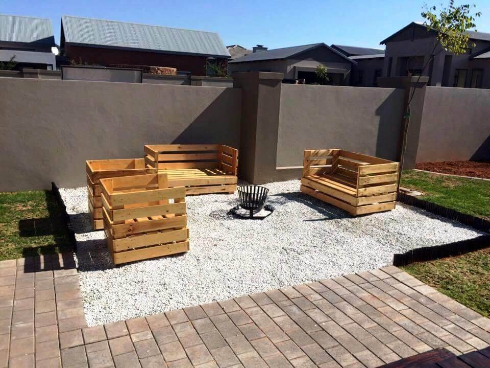 stylish outdoor seating from pallets
