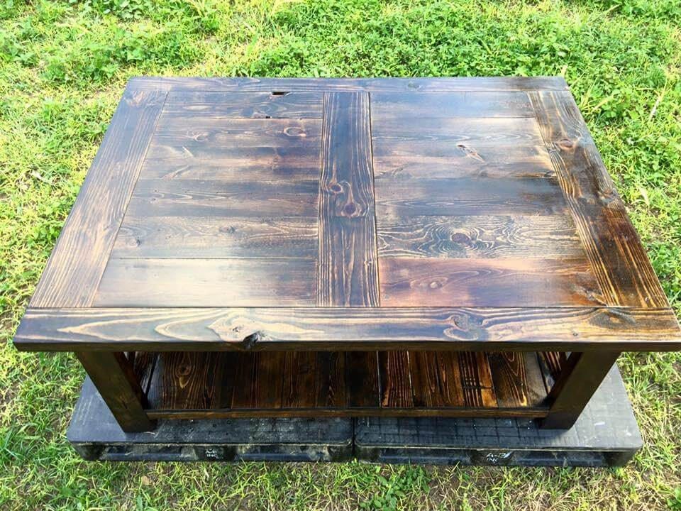 Re-purposed pallet coffee table