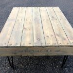 DIY Pallet Coffee Table On Hair Pin Legs