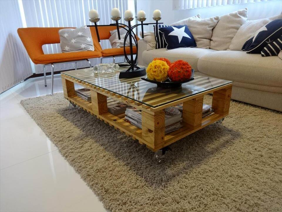 no-cost wooden pallet coffee table