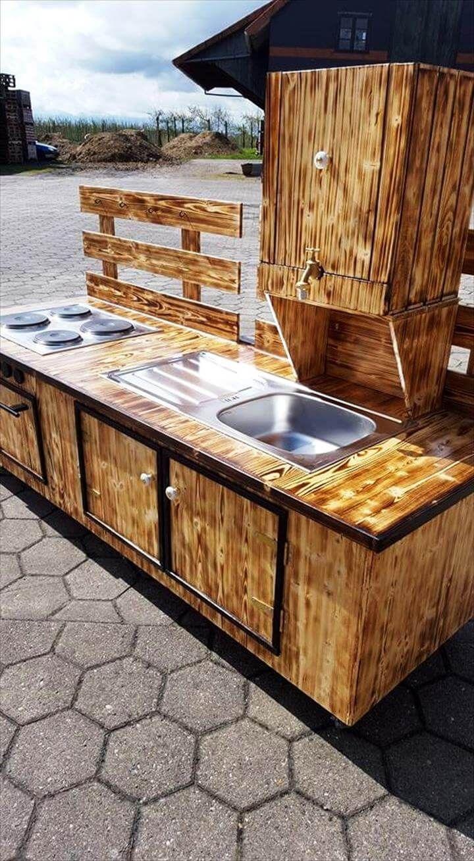 Mud kitchen upcycled pallet mud kitchen pallet kitchen counter with - Reclaimed Pallet Mud Kitchen