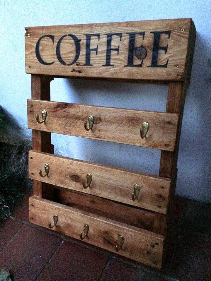 handmade coffee mug rack