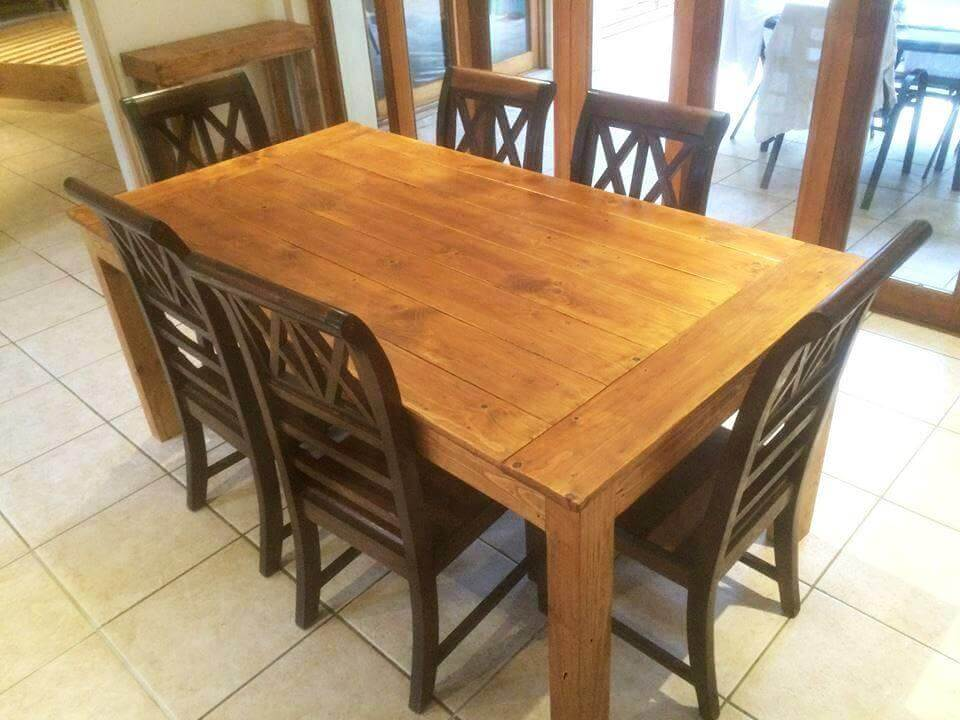 large size pallet dining table