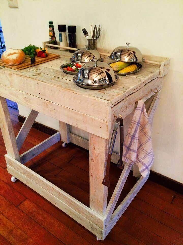 wooden pallet kitchen island